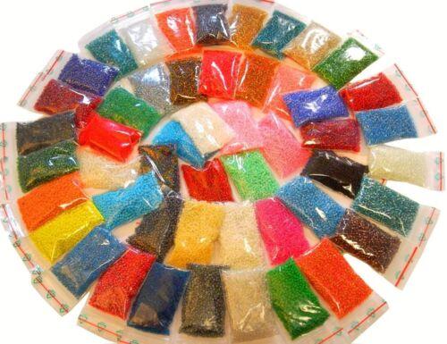 Rocailles Glasperlen 2//3//4mm 30 Pack 30 Farben Rund Mix Posten bestperlenshop