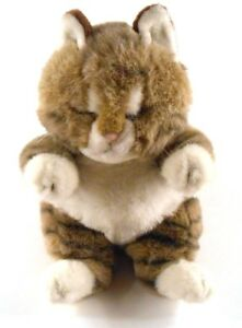 Kel-Toy-Kitty-Cat-Tabby-Striped-Chubby-Fat-Cat-Stuffed-Vintage-Toy-13-034-tall