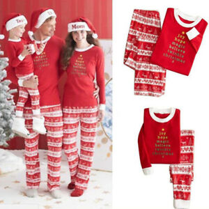 image is loading xmas pjs family matching adults kids baby christmas