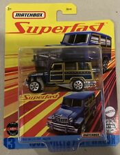 Matchbox Superfast 1962 Willys Jeep Wagon Blue