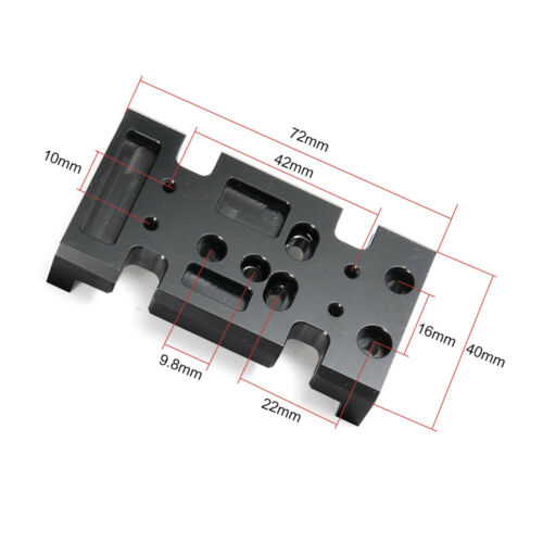 1PC Metal Transfer Case Mount Holder Skid Plate For 1//10 RC D90 SCX10 GearBox