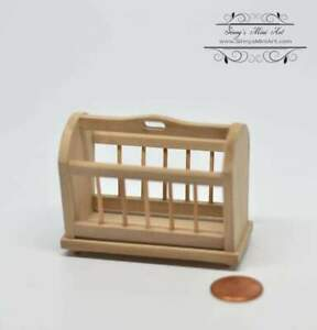 1:12 Dollhouse Miniature Unfinished Magazine Rack AZ GW016