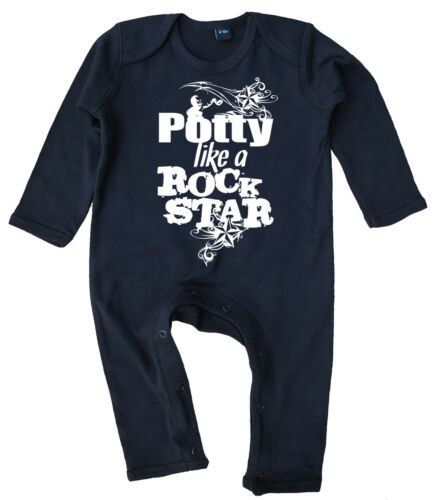 """Baby Rock Romper /""""Potty like a Rock Star/"""" Funny Boy Girl Music Cool Gift Clothes"""