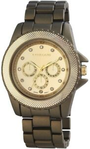 Excellanc-Damenuhr-Gold-Bronze-Chrono-Look-Analog-Metall-Quarz-X150954000011