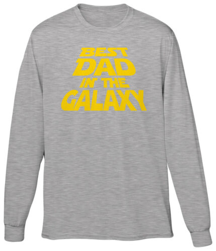 Best Dad In The Galaxy Movie Fan Fathers Day Gift Birthday Present Mens LS Tee