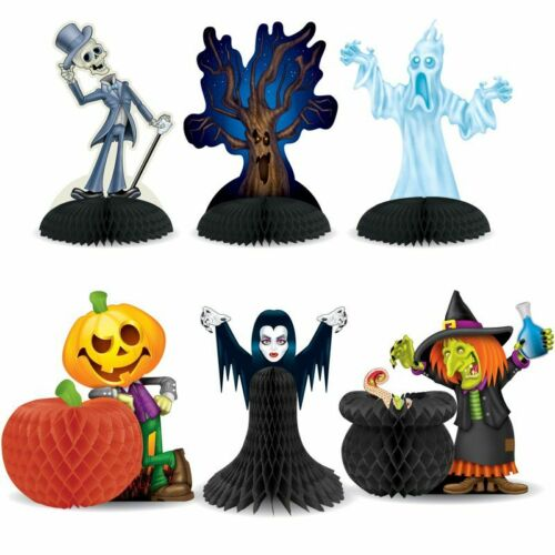 "Halloween Character Centerpiece Set 6 Pack 7.5/"" Paper Halloween Decorations"