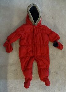 dc8bc5140 Image is loading Baby-Girls-Boys-Red-Pramsuit-from-Next-3-