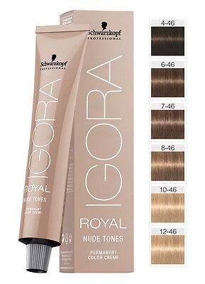 Schwarzkopf Igora Royal Nude Tones Hair Color 60ml Igora Royal Hair Colour Ebay