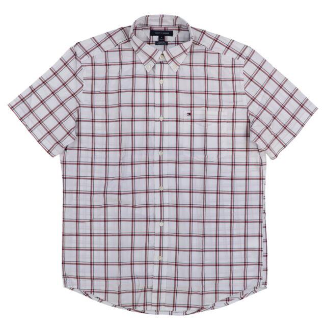 Tommy Hilfiger Mens Buttondown Shirt Short Sleeve Pocket Oxford Casual New Nwt