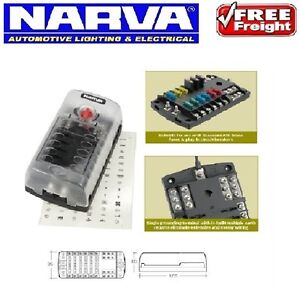 narva 12 way 12v fuse block box holder ats blade for dual battery image is loading narva 12 way 12v fuse block box holder