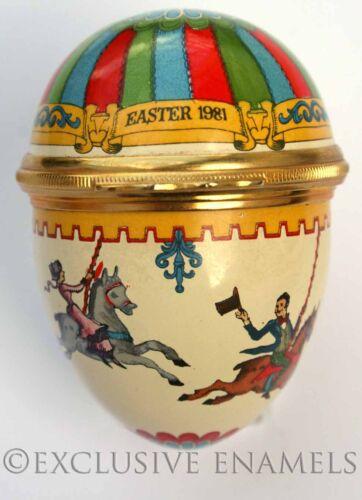 Halcyon Days Enamels Easter Egg 1981 Enamel Egg