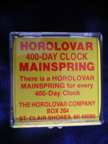 Horolovar 14x25 Mainspring For 400 Day Anniversary Clocks With Instructions