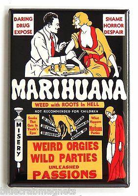 Marihuana FRIDGE MAGNET (2.5 x 3.5 inches) movie poster marijuana pot weed drugs