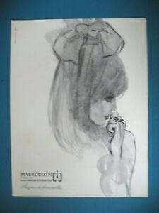 PUBLICITE-DE-PRESSE-MAUBOUSSIN-JOAILLIER-BIJOUTIER-BAGUES-DE-FIANCAILLES-AD-1964