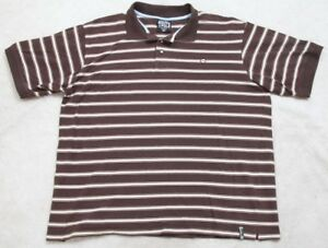 19d10ab3bce5f South Pole Polo Shirt Short Sleeve 4XL Striped Men s 3-Button Brown ...