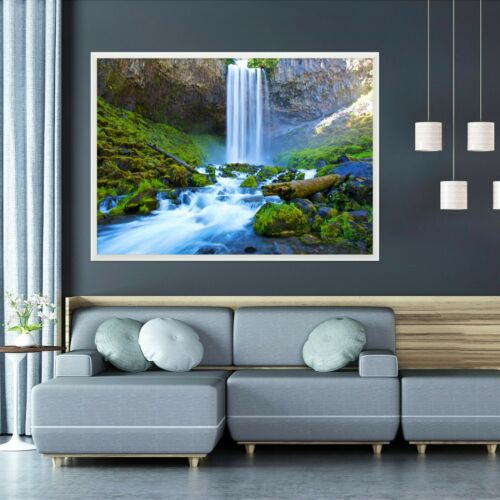 3D Cliff Waterfall 55 Framed Poster Home Decor Print Painting Art AJ WALLPAPER