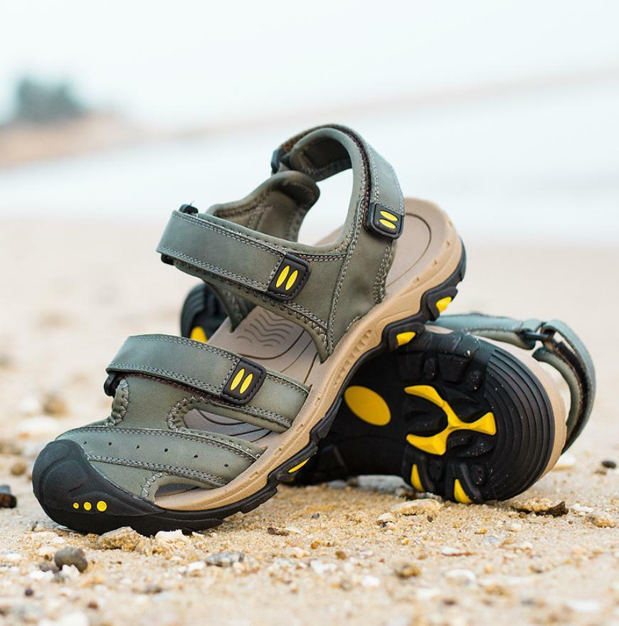 Bergsteiger Herren Strandschuhe Schuhe Sommer Sandalen Klettverschluss Strandschuhe Herren Freizeit 69605b