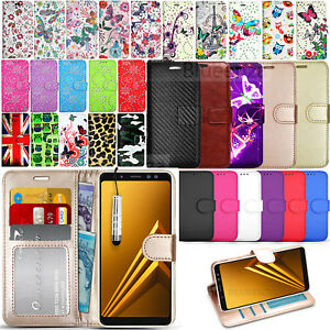 For-Samsung-Galaxy-A8-A530F-2018-Wallet-Leather-Case-Flip-Cover-Screen-Guard