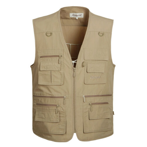 Middle-Aged Gilet Homme Multi-poche Pêche photographie Summer Outdoor Papa