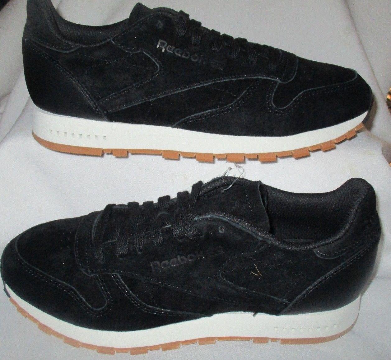 hommes REEBOK CLASSIC CL LEATHER SG noir /CHALK-GUM Chaussures SIZE 8
