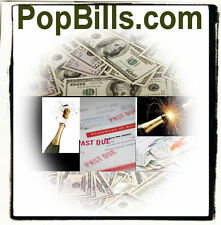 Pop Bills .com  Loans Payments Mortgage House Rent Website Domain Name Money URL