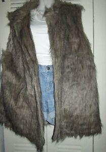 ROUGE-Faux-Fur-Vest-Coat-Sleeveless-Long-Hair-Waistcoat-Gilet-Jacket-Outerwear