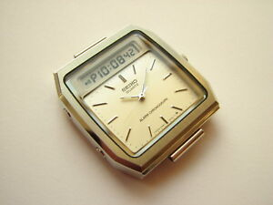NEW-NOS-RARE-Vintage-Seiko-H557-531H-LCD-analog-digital-watch-case-for-parts