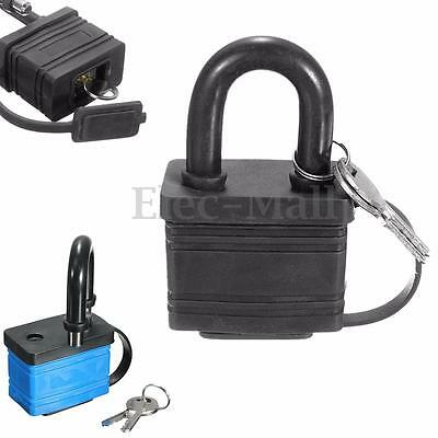 NEW Iron Padlock Waterproof Heavy Duty Outdoor Security Shackle Lock + 2 Keys
