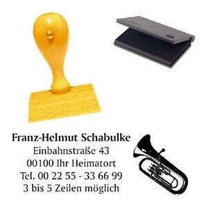 Stempel « VIOLINE 02 » Adressenstempel Motiv Name Konzert Orchester Oper Geige