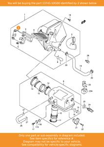 SUZUKI cap, Air Cleaner, 13741-10G00 OEM