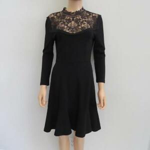 917d8045e7a0 Image is loading NWT-Erdem-Black-Long-Sleeve-Dress-Size-US-