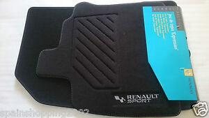 4 Tapis De Sol Textile Renault Sport Clio Iii 3 Rs Gt