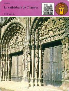 FICHE-CARD-Cathedrale-Notre-Dame-de-Chartres-XIIIe-Siecle-Gothique-France-90s