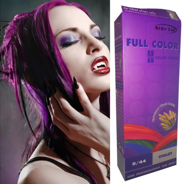 Hair COLOR Permanent Hair Dye ANYA SPA Goth Emo Cosplay MANGOSTEEN VIOLET PURPLE