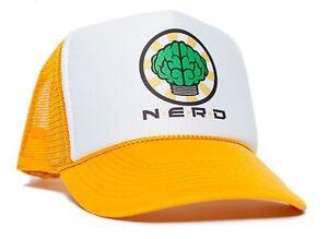 NERD-NEPTUNES-Trucker-Hat-Mesh-Hat-Snapback-cap-Gold-Curved