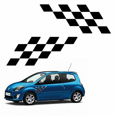 2 gt checkerboard stickers renault sport ref 125 racing tuning sticker twingo