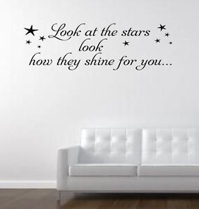 Look at the stars cold play music lyrics wall art decal wall decals image is loading look at the stars cold play music lyrics publicscrutiny Choice Image