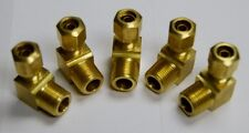 "Brass Fittings: DOT Air Brake Male Elbow, Tube OD 5/8"" Male Pipe 1/2"", Qty. 5"