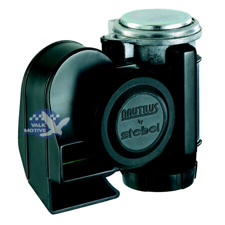 Stebel Nautilus Compact black horn 12 volt for cars//motorcycles-extremely loud!