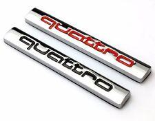 1 Silver/Black AUDI Quattro Logo Decal/Badge/Sticker/Adhesive/R8/R7/RS/A3/A4/A6