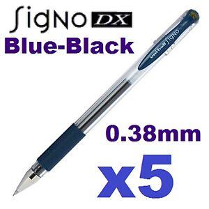 5x signo dx blue black pens uniball japan um 151. Black Bedroom Furniture Sets. Home Design Ideas