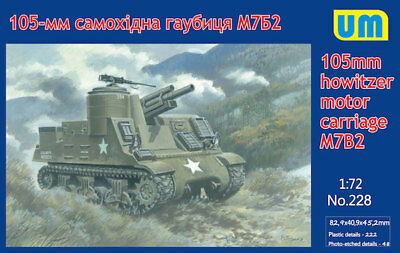 Aircraft (non-military) Unimodel 1/72 105mm Howitzer Moteur Carosse M7b2 #228 Toys & Hobbies