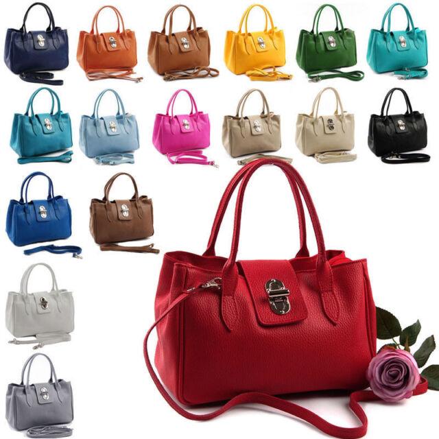 Made in Italy Echtleder Handtasche Damentasche Leder Tasche LTA917AA0