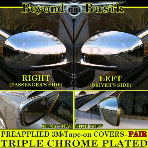 For 2011-2019 CHRYSLER 300 300C Dodge Charger Chrome Mirror COVERS FULL Overlays