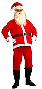 4 Piece Cheap Santa Suit Set Christmas Santa Claus Costume Adult One Size