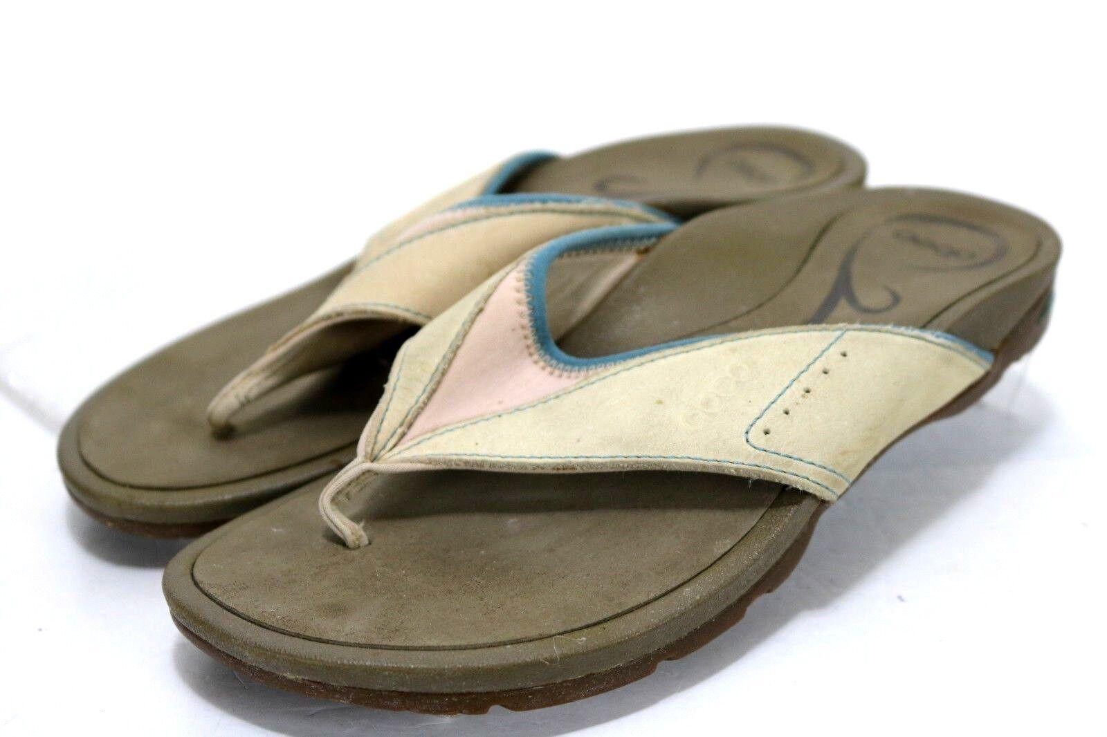 ABEO Balboa Cement  89 Women's Slip-On Sandals Size 8 Tan bluee