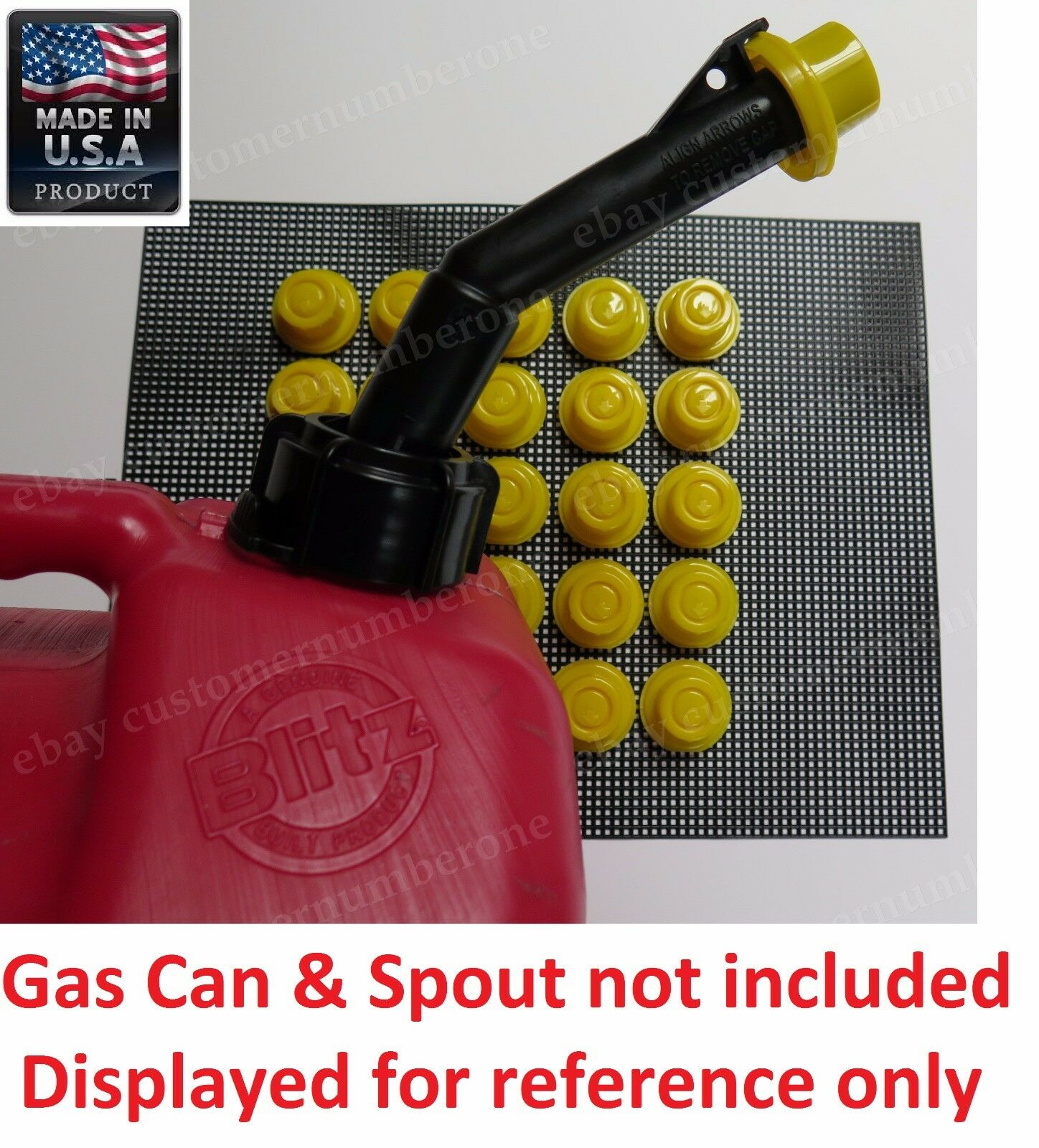 6-Pack NEW BLITZ GAS CAN SPOUT CAPS  #900302 #900092 #900094 SPOUT NOT INCLUDED