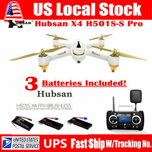 Hubsan X4 H501S S PRO Drone 5.8G FPV Brushless 1080P CAM GPS Quadcopter+3Battery