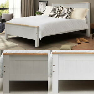 Image Is Loading Solid Single Double King Size Bed Wooden Frame