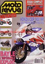 MOTO REVUE 3010 YAMAHA XJ 600 S DIVERSION FZR 750 400 HONDA CBR 900 RR KAWASAKI